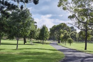 Walkway at Yarraville Gardens near Japara Yarra West aged care home