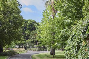 Entrance to Yarraville Gardens near Japara Yarra West aged care home
