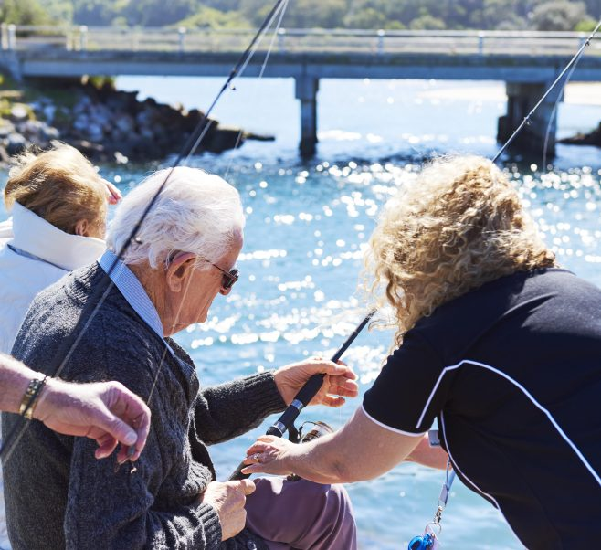 Regular outings at Japara Lakes Entrance, including fishing trips