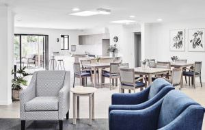 Lounge room and dining room at Japara Noosa aged care home