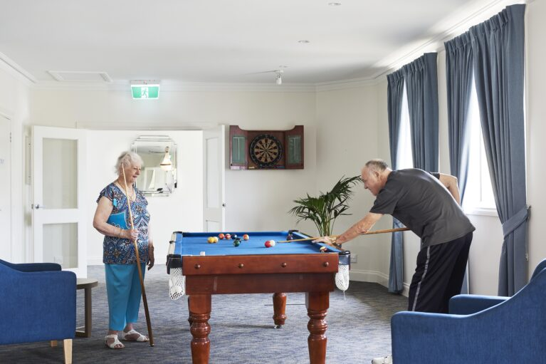 Challenge a friend to a game of pool on our games room.