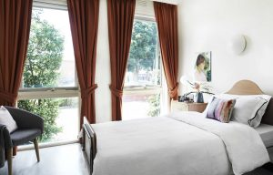 Bedroom at Japara Yarra West aged care home