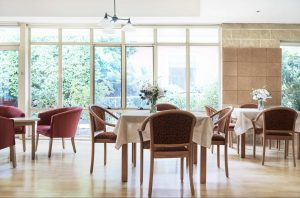Dining room at Japara Yarra West aged care home