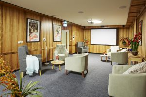 Common room at Japara Central Park aged care home