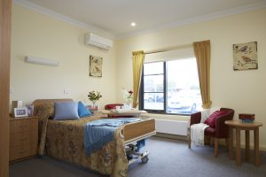 Bedroom at Japara Albury & District aged care home