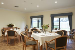 Dining room at Japara Albury & District aged care home
