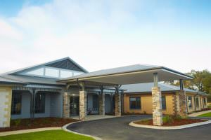 Front entrance of Japara Albury & District aged care home