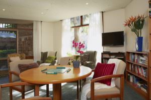 Living room at Japara Bayview Gardens aged care home