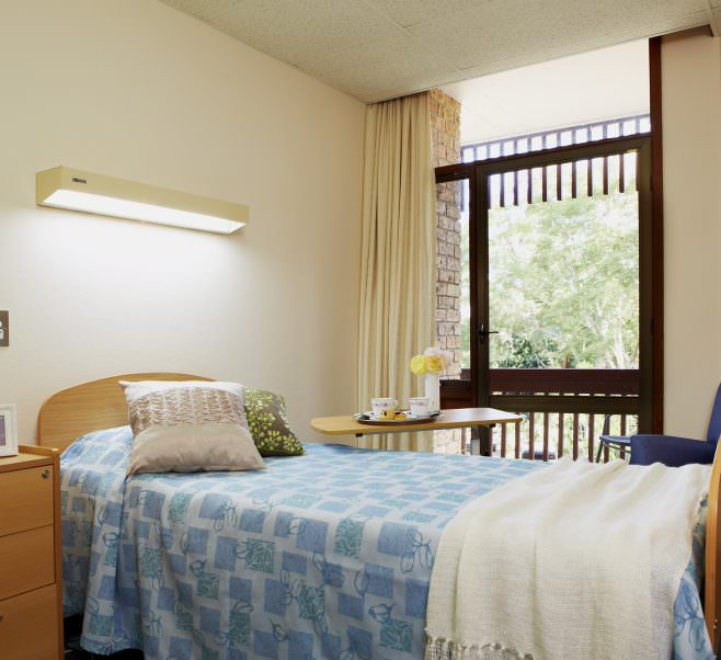 Bedroom at Japara Bayview Gardens aged care home