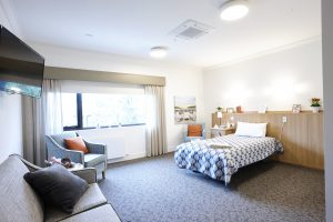 Renovated bedroom at Japara Bayview Gardens aged care home