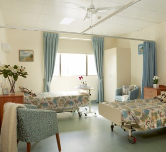 Double bed ward at Japara Bonbeach aged care home