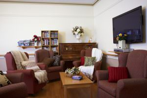 Living room at Japara Brighton aged care home