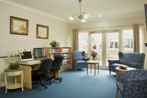 Study room at Japara Capel Sands aged care home