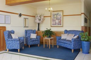 Living room at Japara Capel Sands aged care home