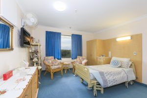 Bedroom at Japara Coffs Harbour aged care home