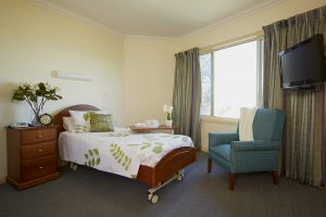 Bedroom at Japara Elanora aged care home