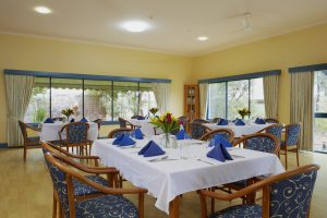 Dining room at Japara Elouera aged care home