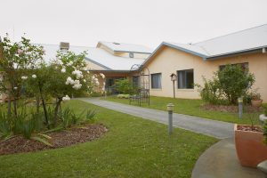 Entrance garden at Japara Elouera aged care home