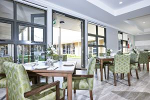 Dining room at Japara George Vowell aged care home