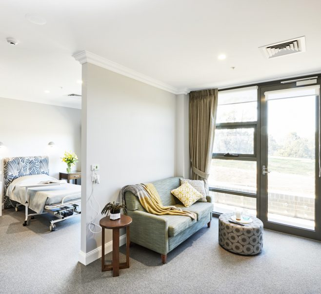Bedroom at Japara George Vowell aged care home