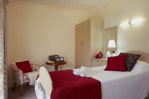 Bedroom at Japara Goonawarra aged care home