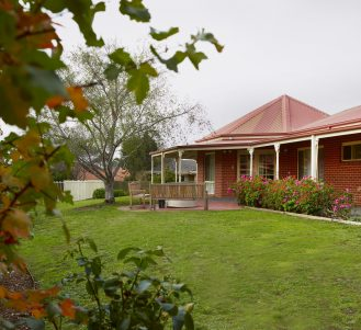 Rear courtyard at Japara Goonawarra aged care home