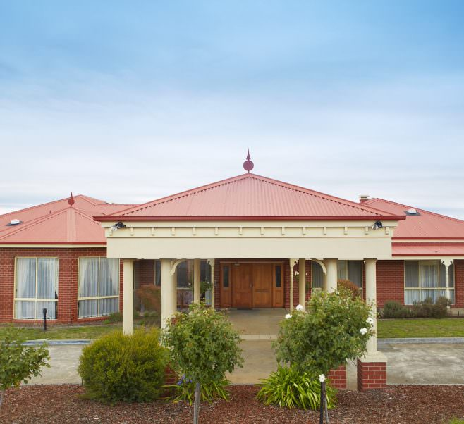 Front entrance at Japara Goonawarra aged care home