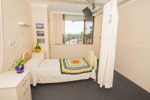Bedroom at Japara Gympie aged care home