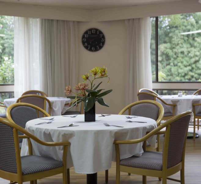 Dining room at Japara Hallam aged care home