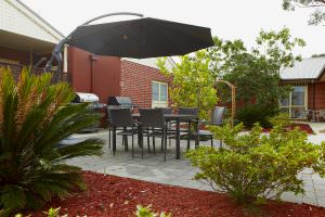 Rear courtyard at Japara Kingston Gardens aged care home