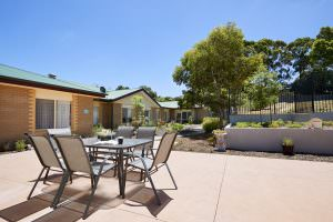 Rear courtyard at Japara Kirralee aged care home