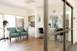 Beauty salon at Japara Kirralee aged care home