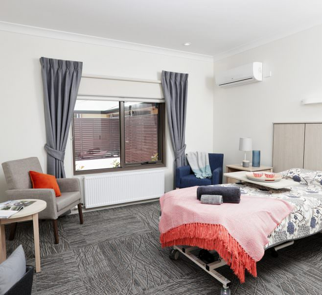Bedroom at Japara Kirralee aged care home