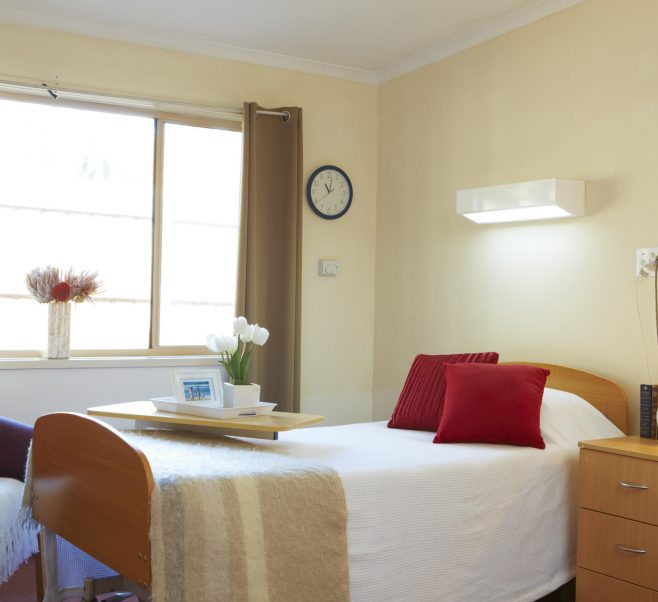 Bedroom at Japara Kiverton Park aged care home
