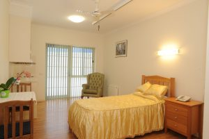 Bedroom at Japara Lakes Entrance aged care home