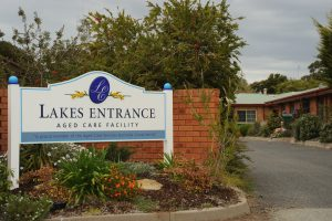 Driveway entrance at Japara Lakes Entrance aged care home