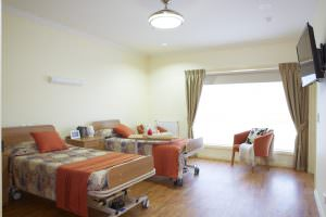 Double bed ward at Japara Millward aged care home