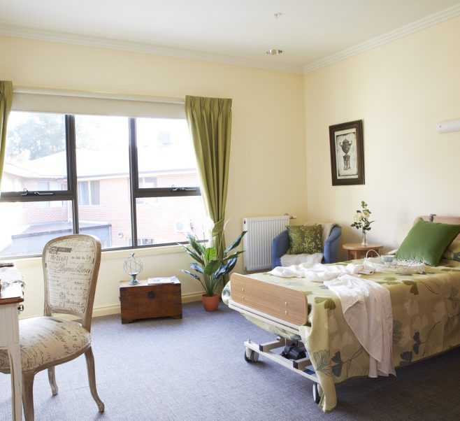 Bedroom at Japara Millward aged care home