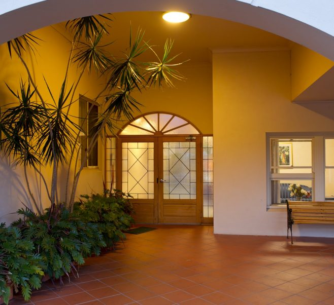 Front entrance at Japara Mitcham aged care home