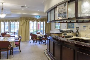 Dining room with bar at Japara Narracan Gardens aged care home