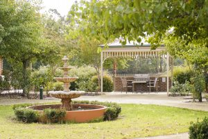 Rear garden at Japara Narracan Gardens aged care home