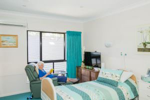 Bedroom at Japara Noosa aged care home