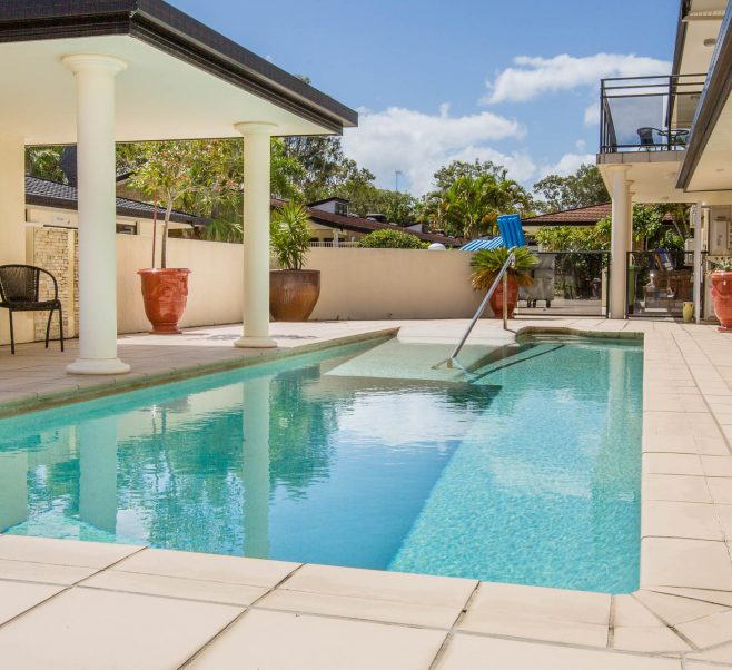 Swimming pool at Japara Noosa aged care home