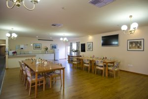 Dining room at Japara Oaklands aged care home