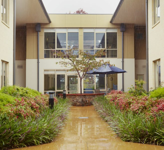 Courtyard at Japara Sandhill aged care home