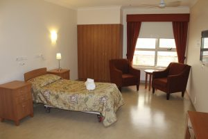 Bedroom at Japara Scottvale aged care home