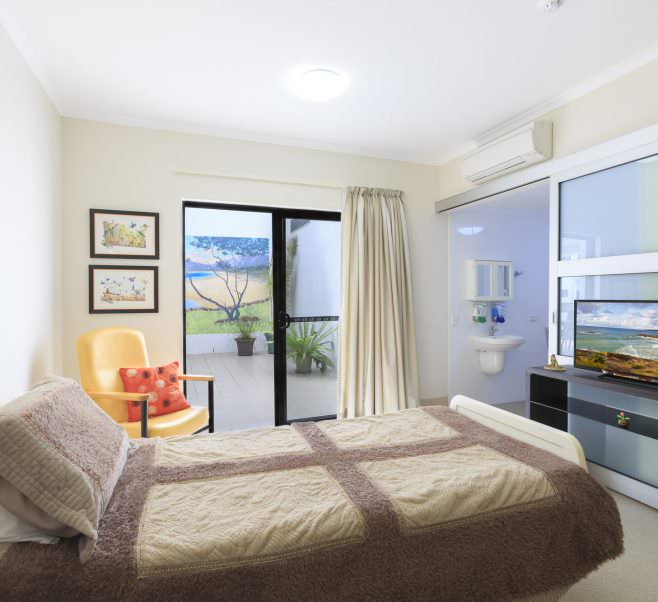 Bedroom at Japara South West Rocks aged care home