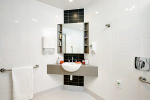 Bathroom at Japara St Jude's aged care home