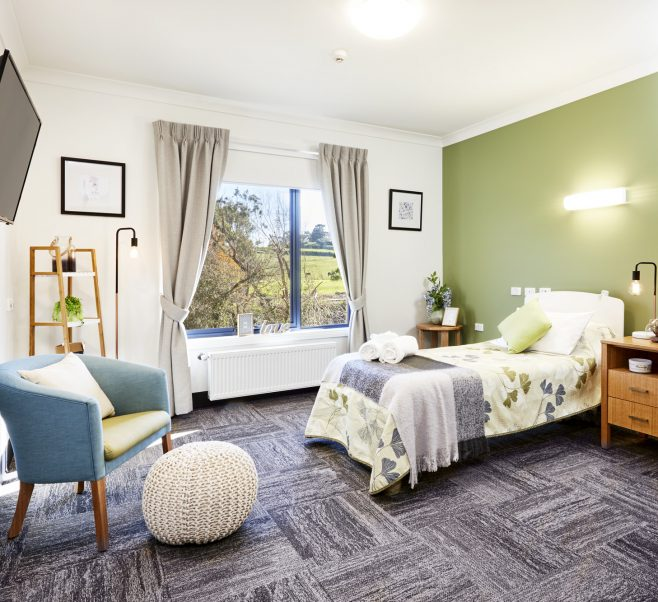 Bedroom at Japara St Jude's aged care home