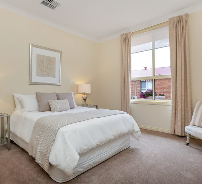 Bedroom at Japara The Homestead Walkley Heights aged care home